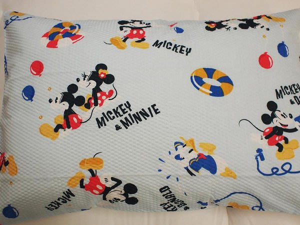 ~FUJIJO~現貨~日本迪士尼專賣【Mickey米奇史迪奇】日本製 夏季涼風材質 43*63cm枕套