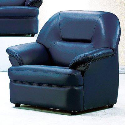 【優比傢俱生活館】19 便宜購-09藍斯洛藍色乳膠皮1人/一人/單人沙發 SH704-6