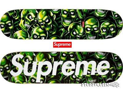 【超搶手】全新正品 2018 SS Supreme Skull Pile Skateboard 骷髏 夜光 滑板