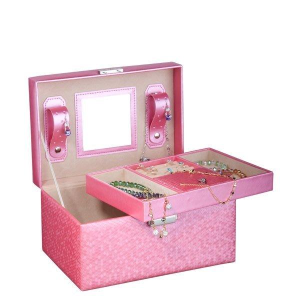 5Cgo【鴿樓】會員有優惠 14282497864 木質首飾盒 公主 歐式化妝盒仿皮飾品盒珠寶盒耳環項鍊