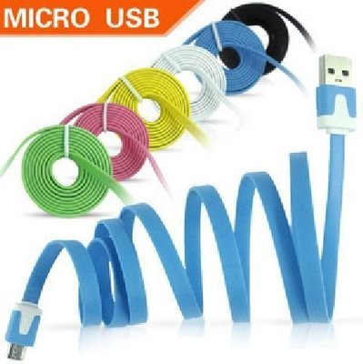 麵條線 MicroUSB (1米) 100公分 扁平線 麵條充電線 充電線 傳輸線 充電傳輸 Micro usb傳輸線 新北市