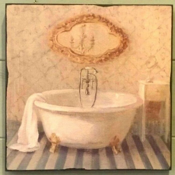 《齊洛瓦鄉村風雜貨》義大利仿舊 浴缸版畫 掛畫 居家裝飾