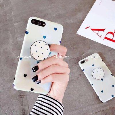【特價】抖音神器氣囊支架蘋果6s愛心手機殼iphone7plus硅膠全包8/X藍光6MIS-81378
