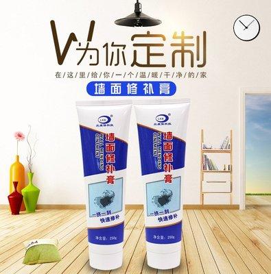 家用牆面修補膏 250g牆體裂縫修補劑白色乳膠漆膩子粉補牆膏