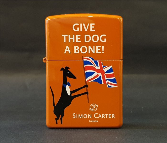 ONE*$1~日系*ZIPPO*SIMON CARTER英國倫敦 《西蒙卡特》6面橙色烤漆*印花/透明塗層