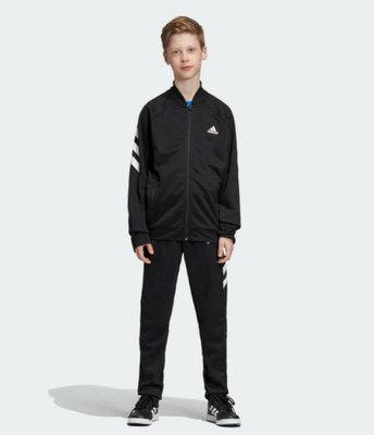 》P.S 》ADIDAS TRACK SUIT 運動 外套 長褲 套裝 大童 男童 黑 ED6215
