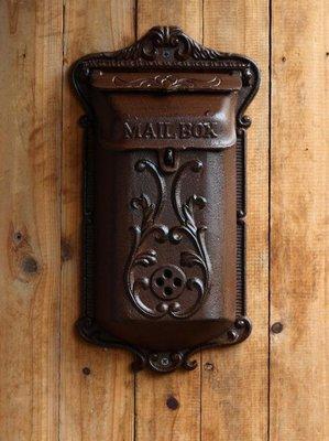 信箱郵筒 復古歐式老信箱郵箱郵筒鐵藝裝飾壁飾1308款JD 〖馨和居家〗