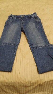 MD  MEANDO  SIZE 77 藍色有彈性,腰14臀18檔9.5大腿10.5長40.5管8.5(櫃橘抽4)