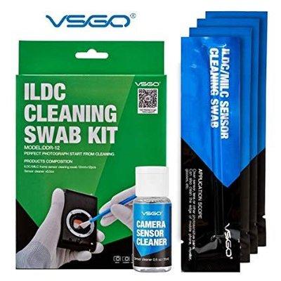 王冠攝影 VSGO 威高 DDR-12 SWAB CMOS 清潔棒套組含專用清潔液 12入【12mm MFT/M4/3】