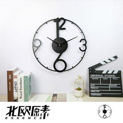 【北歐原素】簡約數字造型掛鐘 時鐘 鐵藝 創意 工業風(LS0111)-YKS 非