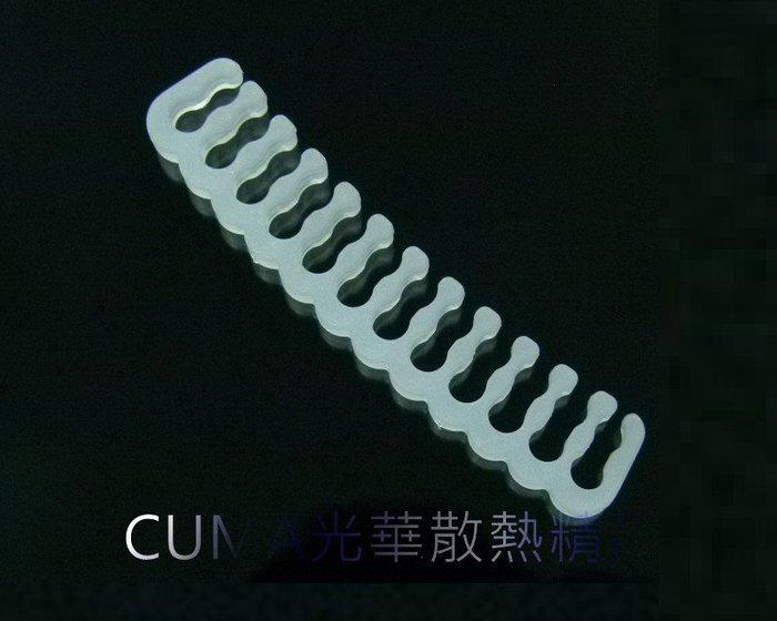 光華CUMA散熱精品*整線材料 PVC 蛇皮網 編織網 理線排 理線梳 模組理線梳 主機板24PIN用 白色~現貨