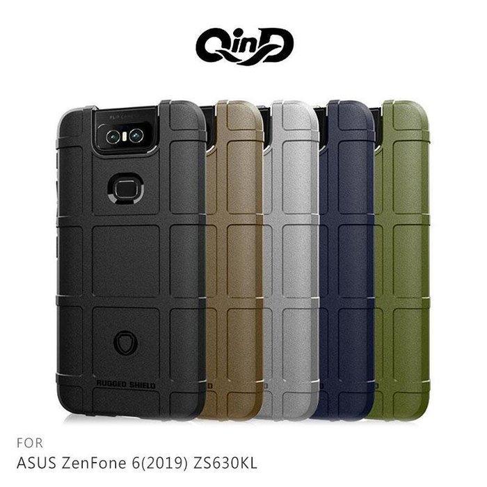 --庫米--QinD ASUS ZenFone 6 ZS630KL 戰術護盾保護套 防摔殼 軟殼 TPU套 保護殼