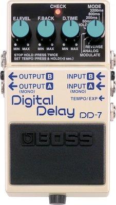 ♪♪學友樂器音響♪♪ BOSS DD-7 單顆Delay效果器