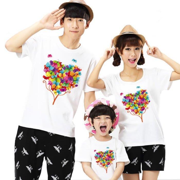 【甜蜜蜜~現貨出清】韓版YI-S41《繽紛花朵》短袖親子裝♥情侶裝 (J7-2)