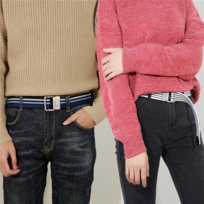 【蘑菇小隊】皮帶帆布腰帶男士皮帶雙環扣加長褲腰帶女韓版時尚牛仔青少年學生-MG62317
