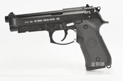 台中.彰化((金和勝 生存遊戲專賣))黑色 WE 刻字版 M9A1 瓦斯手槍 4546 W