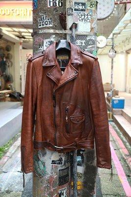 [ Satisfaction ] Schott 限量款P629斜拉鍊騎士牛皮皮衣 Made in USA