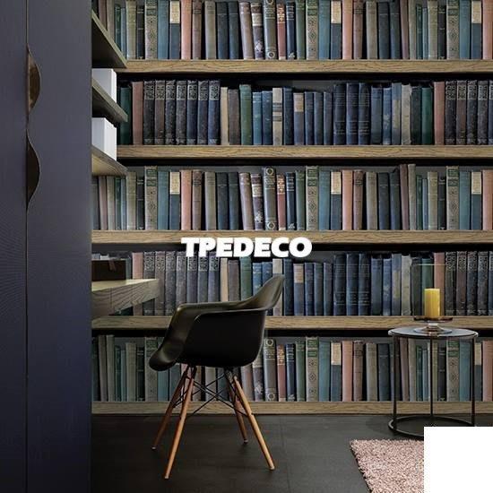【大台北裝潢】AS韓國進口壁紙/壁布*  書架書櫃書本牆 每坪750元