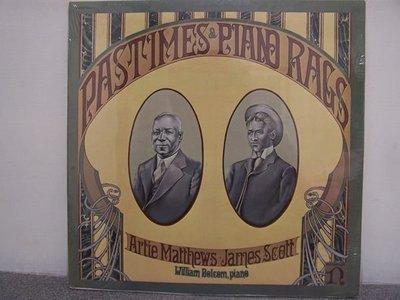【Nonesuch LP名盤】2256.James Scott及Artie Matthews的鋼琴雷格音樂作品(曲目詳照片),3LPs