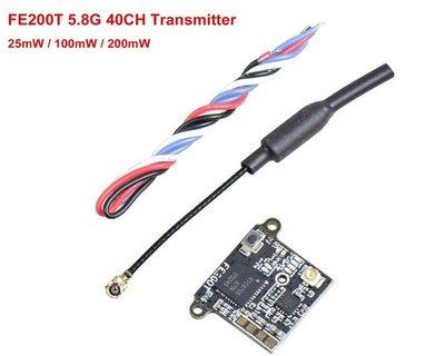 F13A FE200T 圖傳 5.8G 40CH 25MW 100MW 200MW OSD 調參 5V供電 FPV功率可調