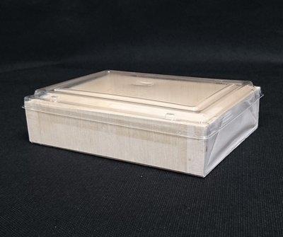 1600組【 長方形 木片餐盒+透明蓋】木製餐盒 木片便當盒 池上便當 木製便當盒 食品盒 FD-120晶