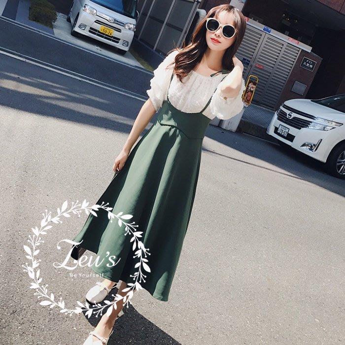 【ZEU'S】夏日休閒顯瘦吊帶長裙『 05118207 』【現+預】E