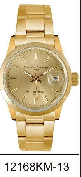 (六四三精品)Valentino coupeau(真品)(全不銹鋼)精準男錶(附保証卡)12168KM-13