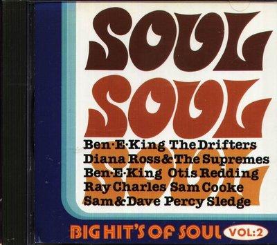 八八 - BIG HIT'S OF SOUL VOL.2 - 日版 CD BEN-E-KING SAM COOKE