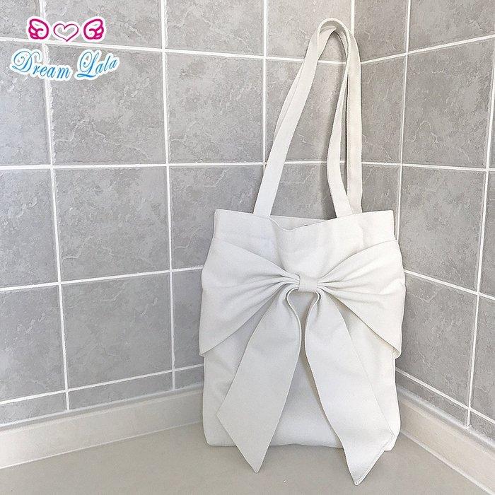 夢幻拉拉♥【預購】日系 甜美 可愛 百搭 軟妹 大蝴蝶結 帆布手提袋 手提包C00003