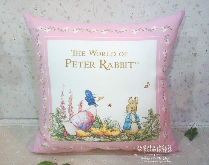 ~*歐室精品傢飾館*~Peter Rabbit 比得兔 台灣製 粉紅玫瑰 彼得兔 潔瑪鴨 午睡枕 抱枕 枕頭~新款上市~