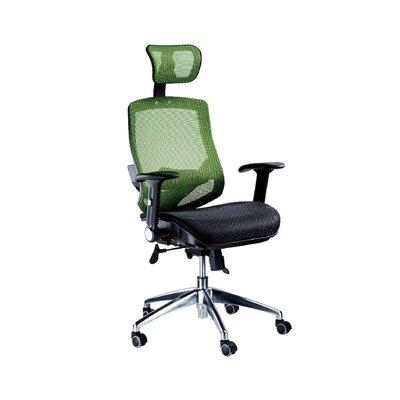 螞蟻雄兵 LV-999AH OA網布辦公椅(綠色款) 電腦椅 會議椅 主管椅 電競椅 網布椅 滾輪椅 辦公家具 頭枕