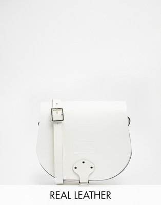 Jack Wills Saddle Bag Real Leather 白色 真皮 經典 手提包 肩背