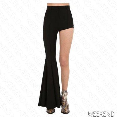 【WEEKEND】 PUSHBUTTON 不對稱 特殊褲型 長短褲 喇叭褲 熱褲 黑色 折扣