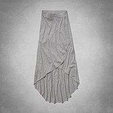 Maple麋鹿小舖 Abercrombie&Fitch * AF 灰色素面開岔設計長裙*( 現貨XS號 )