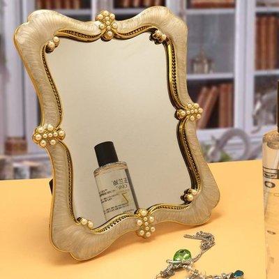 結婚鏡子桌面台式化妝鏡折疊美容梳妝鏡YSY