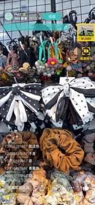 韓國春夏新款手工蝴蝶結點點髮夾