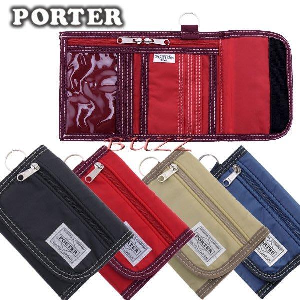 巴斯 日標PORTER屋- 四色預購 PORTER REEF 短夾 813-08861