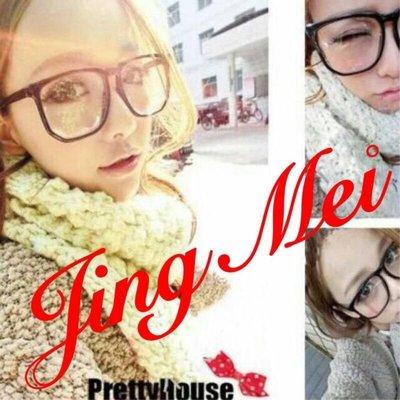 Jing Mei 靚魅時尚[GL-2901]有鏡片 眼鏡 眼鏡 粗框眼鏡 大框眼鏡 彩色鏡框 造型眼鏡 耳釘