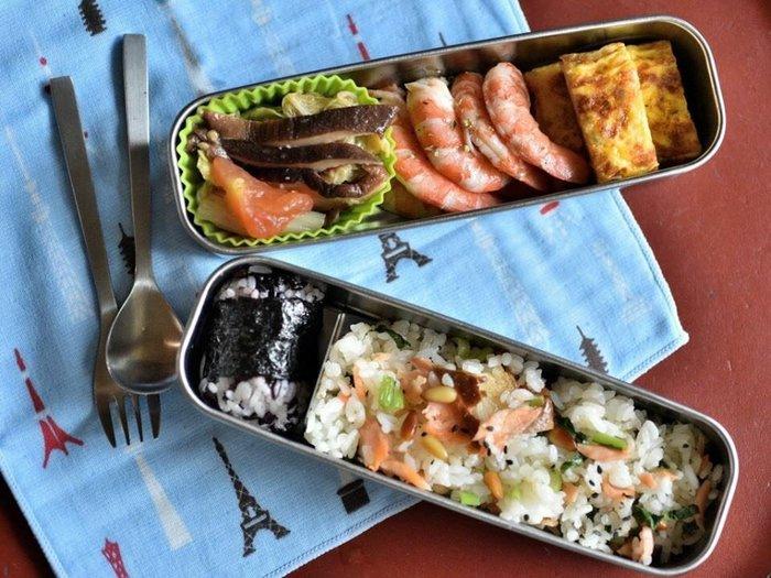發現花園生活館~日本製 相澤工房(工房AIZAWA) 便當盒 - 細長方雙層 (附束帶)