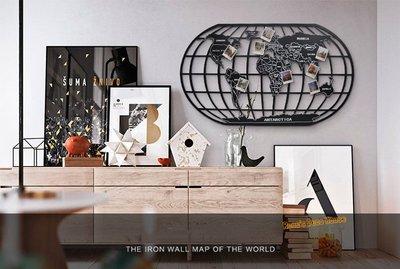 Loft 工業風120x70cm世界地圖 壁掛 復古工業風 店面/客廳/房間 裝飾 室內設計 復古流行 居家裝潢 傢飾