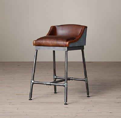 【台大復古家居】復古工業風 水管吧台椅 Iron Scaffold Counter Stool【Vintage】RH矮吧