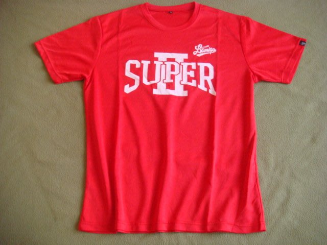 Lamigo 全新 2014 SUPER Ⅱ T恤 紅色 XL 小方巾 33*33   另售 兄弟象棒球帽