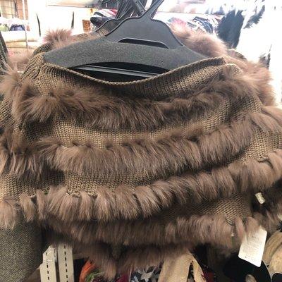披肩圍巾(狐毛)