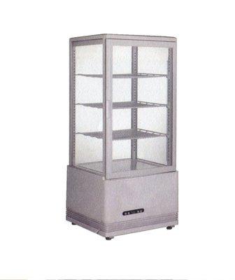 鑫忠廚房設備-餐飲設備:全新78L桌上型玻璃展示冷藏冰箱-賣場有烤箱-水槽-微波爐-咖啡機-電磁爐-西餐爐-快速爐