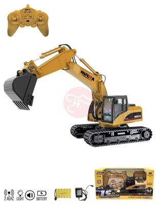 【KENTIM玩具城】2.4G遙控車 十五通道合金遙控挖掘機工程怪手挖土機工程車(1550)
