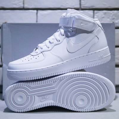 【免運實拍】NIKE AIR FORCE 1 MID '07 白色高筒休閒鞋 穿搭運動男鞋 空軍一號315123-111