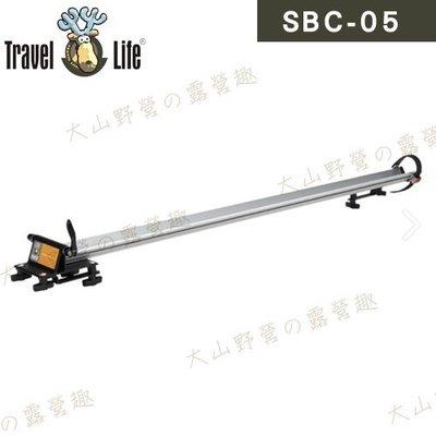 【大山野營】安坑特價 Travel Life 快克 SBC-05 車頂鋁合金拆胎式攜車架 自行車架 單車架 腳踏車架