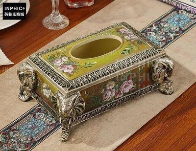 INPHIC-奢華歐式大象紙巾盒 創意客廳桌面 美式復古地中海餐巾抽紙盒-百年大象紙巾盒_S01870C