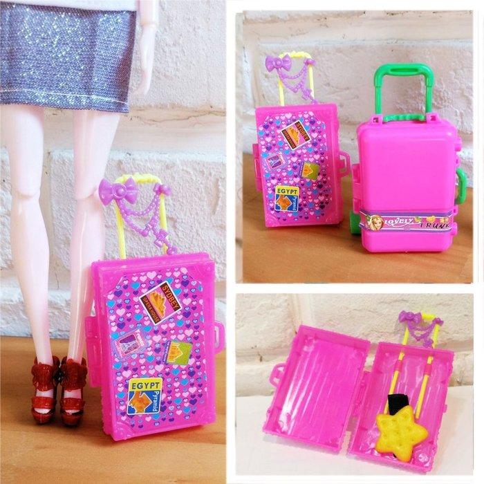 [靚妞兒小舖]芭比行李箱芭比手拉包芭比娃娃配件芭比娃娃包包~全館599免運~