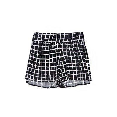 【Abercrombie&Fitch】【A&F】AF女款短褲雪紡白格黑 F20150423-08